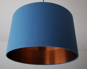 "Lampshade ""Pigeon blue-Copper"""