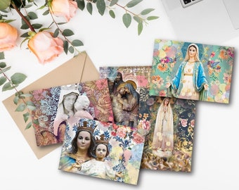 Blessed Mother 5x4 Flat Notecard Set