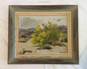 Vintage Agnes Pelton California Desert Landscape Oil Painting