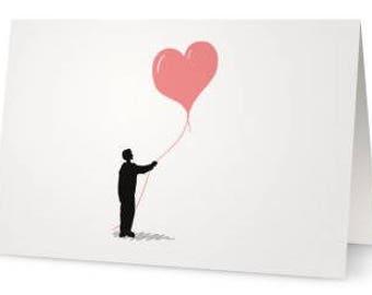 Love Card, Heart Card, Romantic Card, Romantic Stationery, Valentine's Card