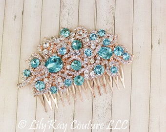 Teal wedding jewelry Etsy