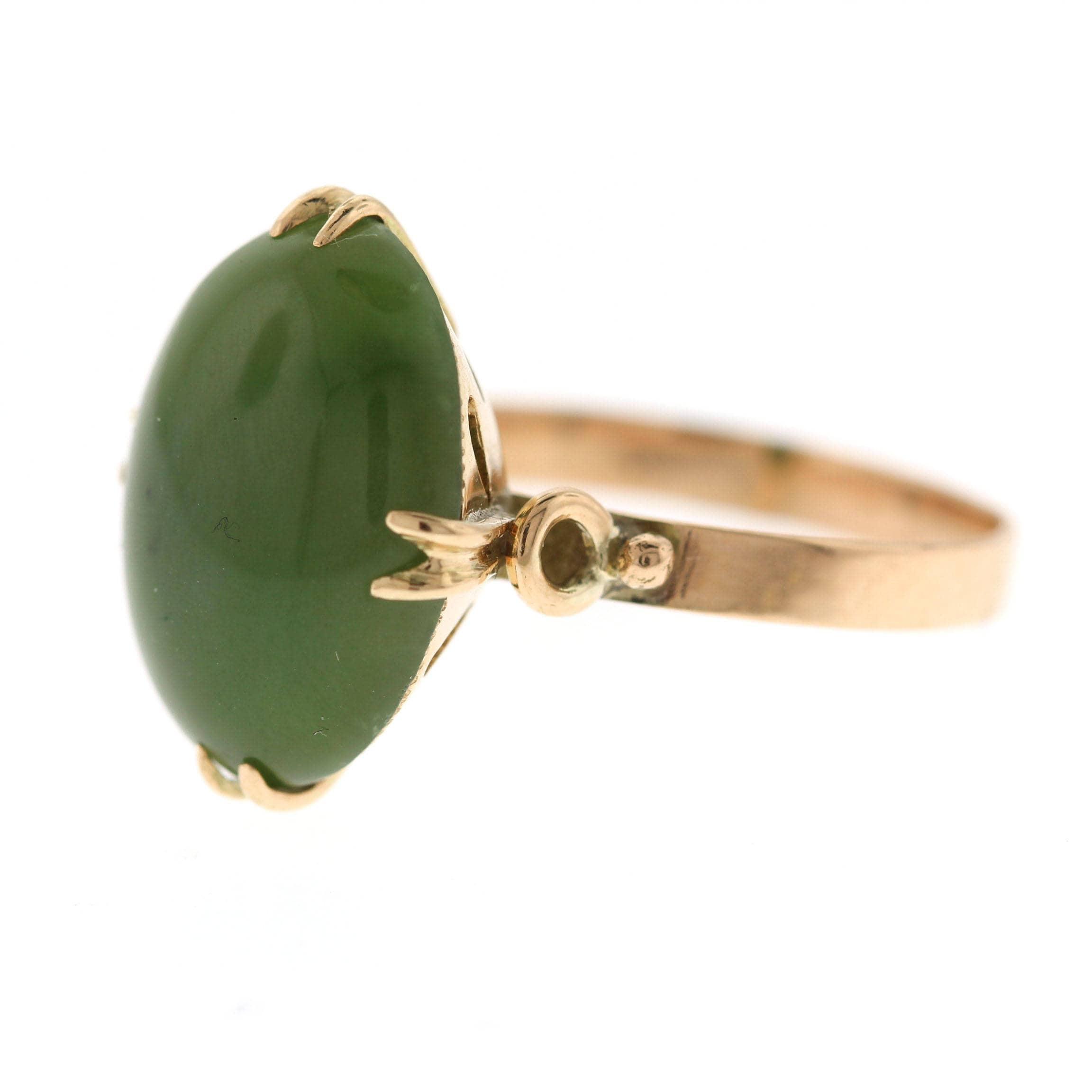 vintage jade ring rose gold jade engagement ring nephrite. Black Bedroom Furniture Sets. Home Design Ideas
