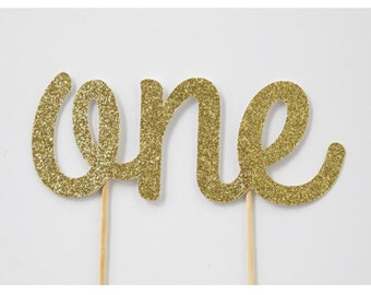 One cake topper, Cake Topper, First Birthday Cake Topper, First Birthday Decor