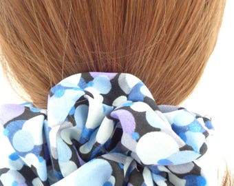 scrunchies, scrunchies scrunchy Blue hair Scrunchie,  hair scrunchie ,Chouchou, hair accessories, handmade by ScrunchiesCo