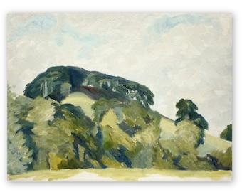 Pic Tor, Derbyshire, original oil painting, plein air, 12 x 16 inches