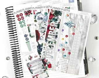 Joy December Monthly View Planner Kit | ~200 Stickers | Planner Stickers | For Erin Condren LifePlanner