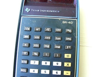 On Sale Vintage Calculator, Texas Instrument Calculator, 1980s Calculator