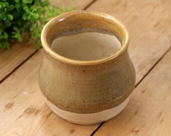 Ceramic Stoneware Tundra & Speckled Oatmeal Small Vase / Planter