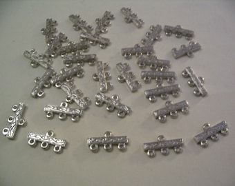 30  Vintage 3 Hole Connectors Jewelry Finding Supplies
