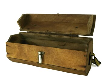 Vintage Wooden Ferret Box. Pet Carrier. Transport and Travel Gifts.