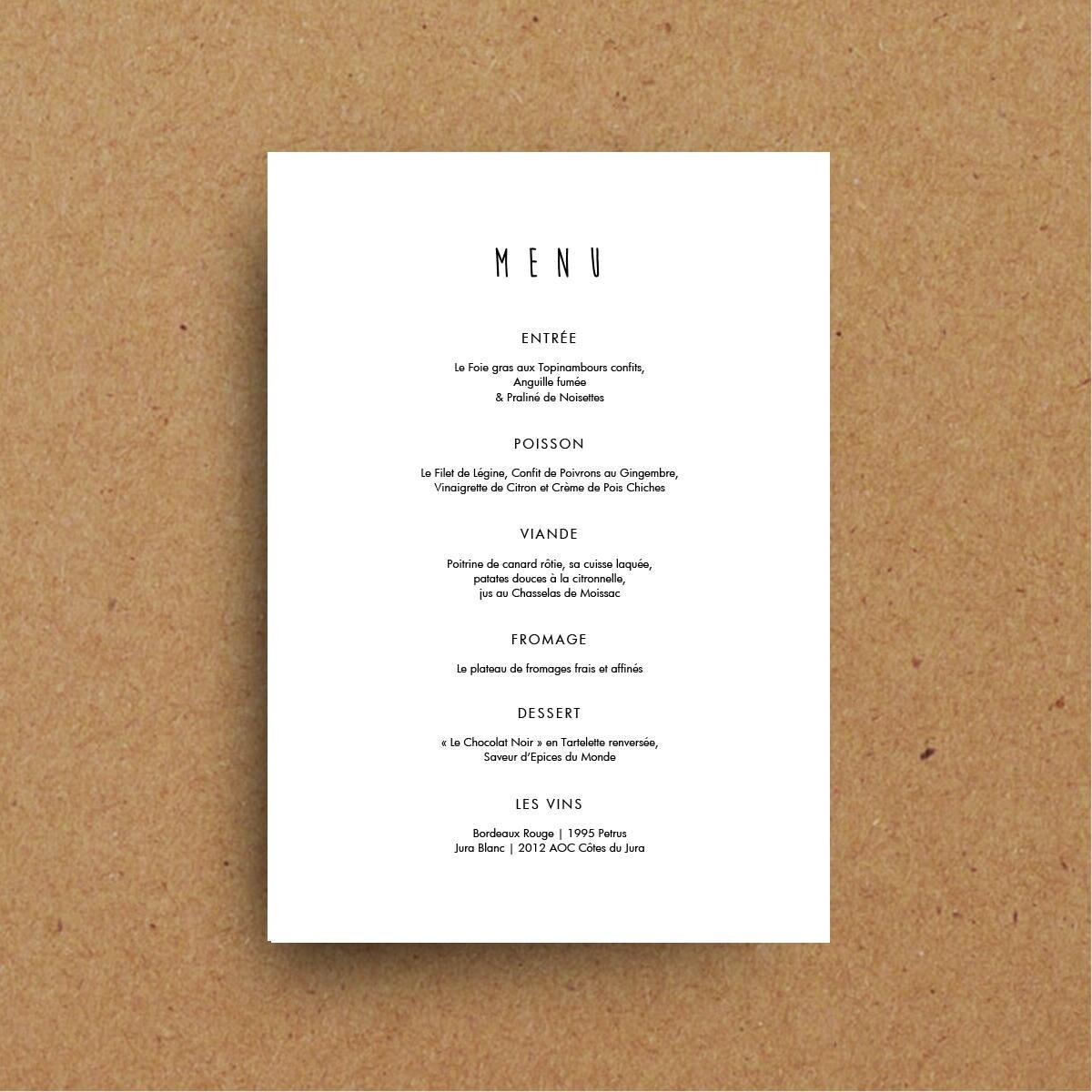 Boda para imprimir plantillas cartas de menú de diseño