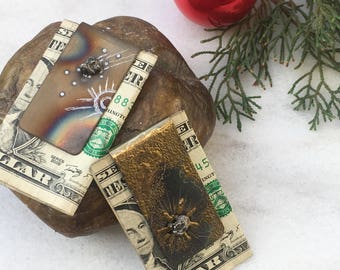 Meteorite Money Clip | Meteorite Jewellery | Meteorite | Gifts For Dad  | Unique Gifts For Men | boyfriend gift | his gifts under 100