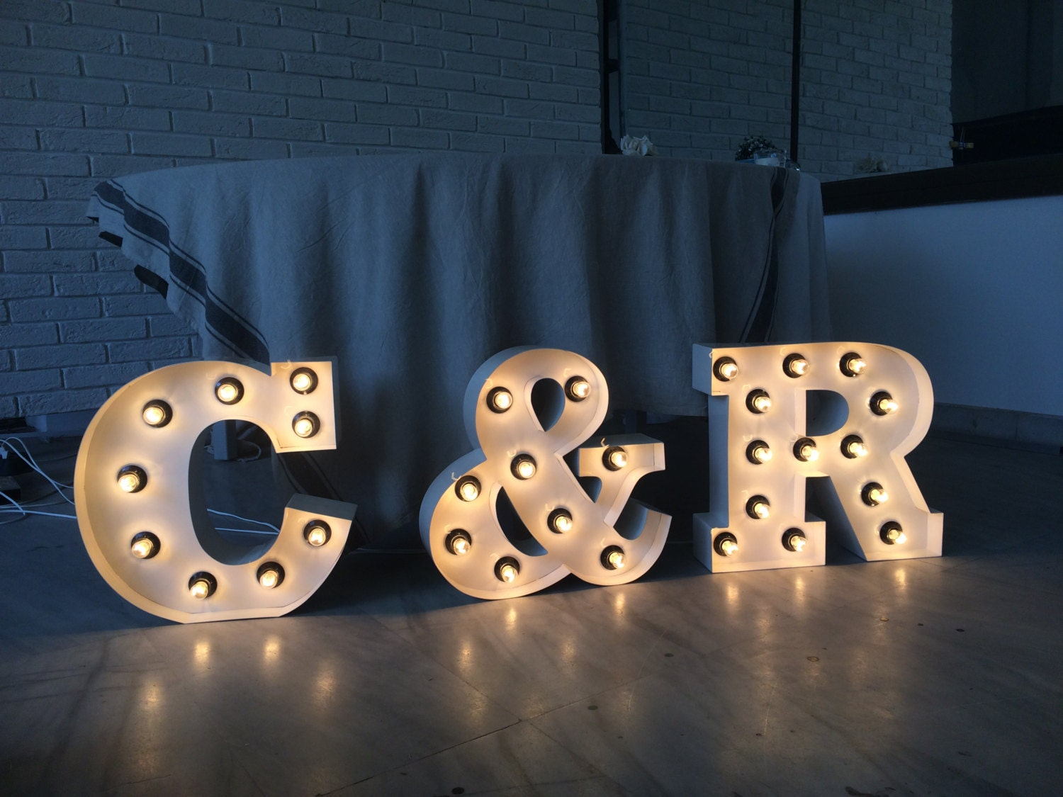 Metal Initials Extraordinary Light Up Numberslight Up Letters Initials Large Marquee Decorating Inspiration