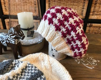Red Houndstooth Hat