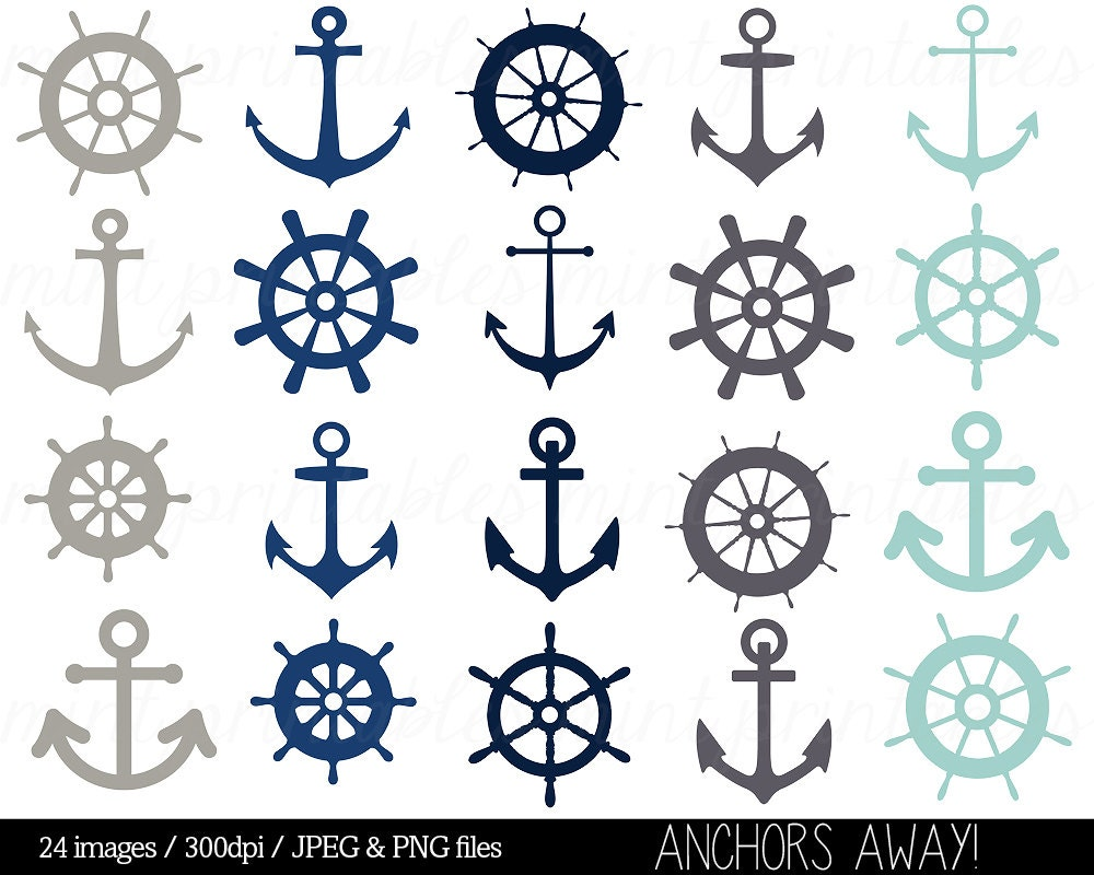 Nautical Clipart Clip Art Anchor Helm