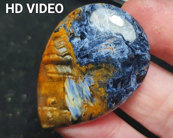 39mm Pietersite cabochon AAA38ct and 39 by 29 by 4.5mm from Namibia