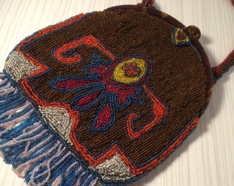STUNNING 1920's Beaded Flapper Purse/Bag - Great Gatsby - Art Deco