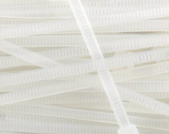 Reborn Baby replacement zip ties supplies ultra thin 15 inch replacement 2mm width. You get 10 per order.
