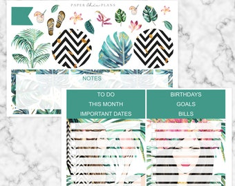 Tropical // Notes Page Kit - Erin Condren Vertical Life Planner