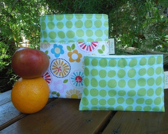 Reusable sandwich and/or snack bag - Reusable sandwich bag - Reuse snack bag - Waste free lunch bags -  Fresh market -