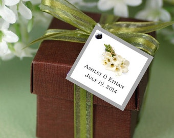 100 Calla Lily Favor Tags.  Wedding favors