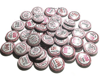 "God, Love, Christian, 1"", Buttons, Faith, Christian Pin, Christian Flatback, Spiritual Party Favor, Scripture Pinback, Church Pinback, Pin"