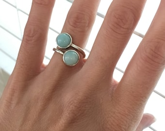 Size 7, Amazonite Ring, Sterling Silver Ring, Amazonite Jewelry, Amazonite, Amazonite Sterling Silver, Green Amazonite Ring, READY TO SHIP