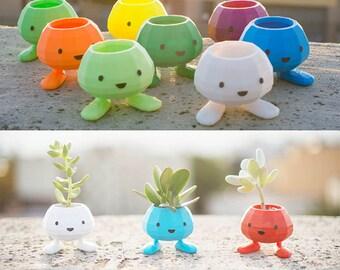 Oddish Planter, Pokemon, Christmas Gift, oddish, 3D Printed Planter, Pocket Animal,Adorable, cute, monster, geekery, Pikachu