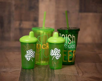 St. Patricks Day Tumblers/Sippy Cups