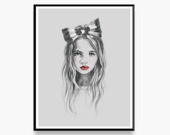 Lucinda's Bow - Limited Edition Art Print for the Home Interior