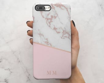 initial marble iphone 7 plus case