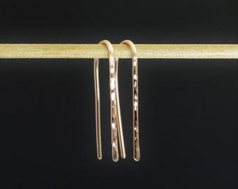 Rose Gold Open Hoops, Rose Gold Filled, Rose Gold Earrings, Everyday Earrings, Dainty Earrings, Arc Earrings, Gold Arc Earrings, Alari