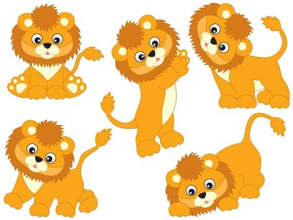 lions clipart digital vector safari african animal lion rh etsy com lions clip art free lion clip art free download