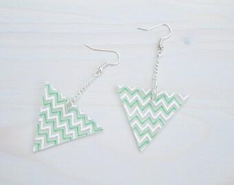 ON SALE [50% OFF] shrink plastic earrings, handmade geometric earrings, statement earrings, geometric jewellery