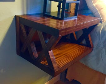 X Floating Nightstand Dimensions(15x11x12)