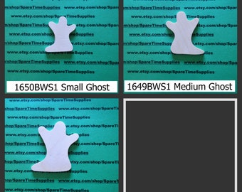 Ghosts - assorted sizes and designs - unfinished wood - 1 pc