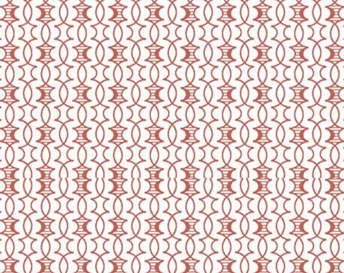 HEADS UP - Trellis in Rust - Red Brown Cotton Quilt Fabric - Studio 8 for Quilting Treasures Fabrics - 24256-T (W4054)