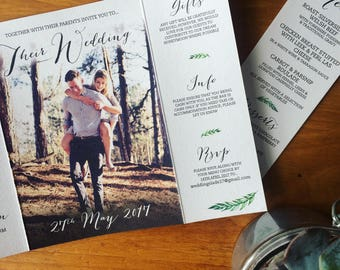 Bespoke Botanical Wedding Invitation