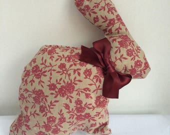 "Toy / cushion in the shape of rabbit ""Varenne"" framework8"