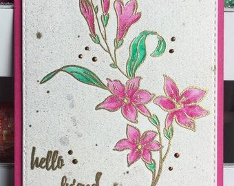 Hello Friend Flower Greeting Card