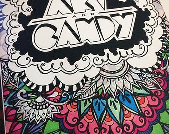 Coloring with Art + Candy: Vol. 1, Coloring Book