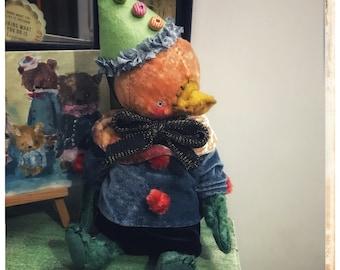 10 inch Artist Handmade Plush Teddy Duck Oscar by Sasha Pokrass