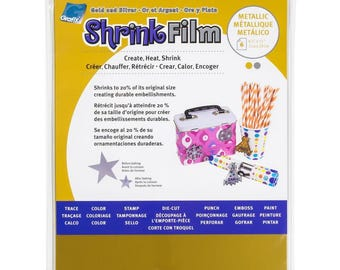 Grafix Metallic Gold & Silver Polyshrink Shrink Film Sheets - Create Shrink Art Jewelry, Embellishments and more.