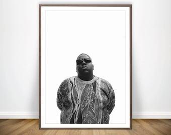 Biggie Smalls Print Biggie Smalls Rap Poster Biggie Poster Notorious Big Poster Notorious Big Print Art Biggie Smalls Wall Art Biggie Print