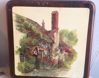 Vintage French Country Cottage Prints on Wood