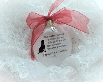 Pet Memorial Christmas Ornament, The Saddest Moment, Free Personalization and Charm