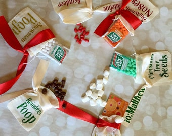 Christmas Party Favors - Personalized Candy Bags - Christmas Gift tags - Gift Card Holders - Christmas Goodie Bags - Stocking Stuffers