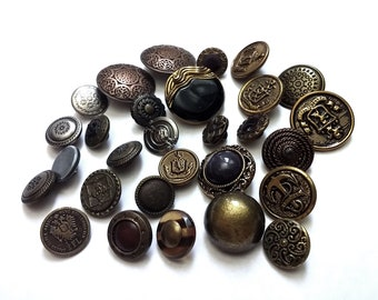 Lot of bronze vintage shank sewing buttons