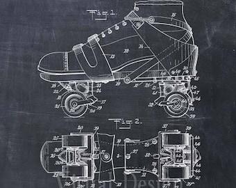 Roller Skate Patent Print Roller Skate Art Print