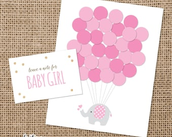 Baby Shower Elephant Guestbook Set